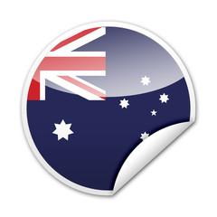 Pegatina bandera Australia con reborde
