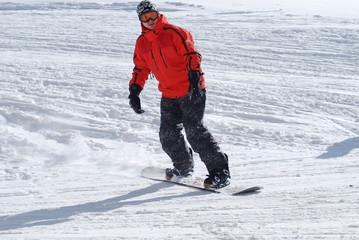 a snowboarder