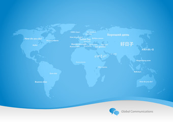 Variety of languages - global communications