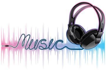 neon pulsing music headphones