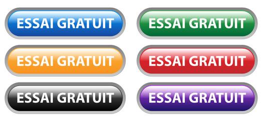 Série de Boutons Web ESSAI GRATUIT (offre spéciale internet pub)