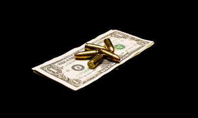 Bullets on dollar bills