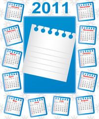 Calendar 2011. Week starts on Sunday