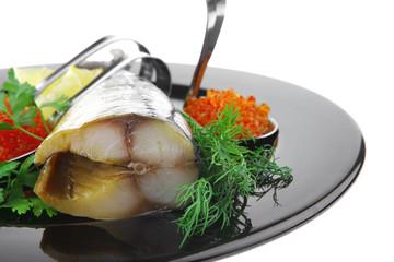 smoked fish and caviar