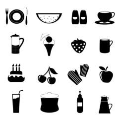 food drink icon set