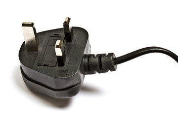 Electric plug isolated on the white