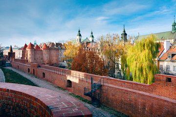 Fortified medieval outpost - Warsaw barbican
