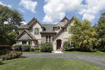 Luxury brick and stone home