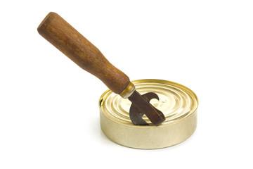 Opening a tin