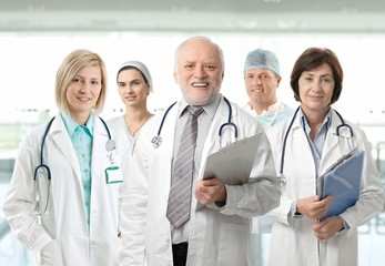 Team portrait of medical professionals