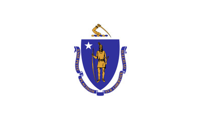 Wall Mural - Massachusetts state flag