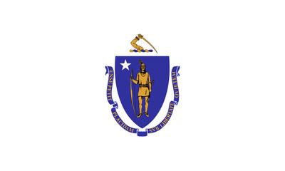 Fototapete - Massachusetts state flag