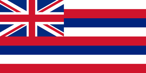Wall Mural - Hawaii state flag