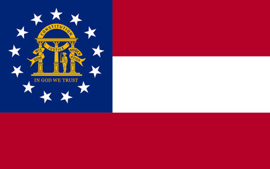 Wall Mural - Georgia state flag