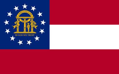 Fototapete - Georgia state flag