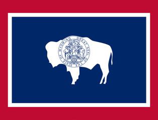 Fototapete - Wyoming state flag
