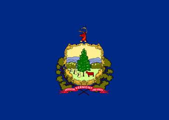 Fototapete - Vermont state flag