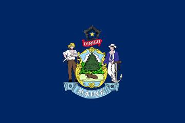 Fototapete - Maine state flag