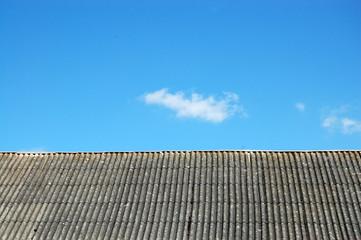 Obraz chura nad dachem - fototapety do salonu