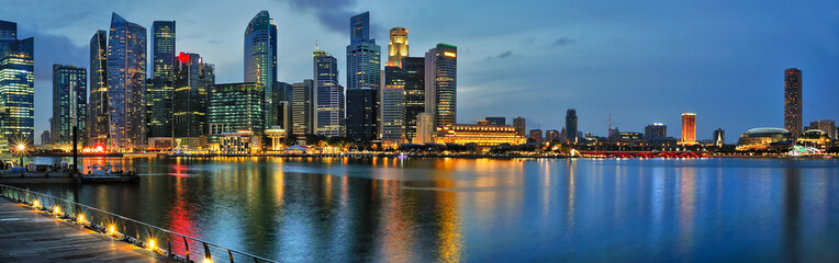 Keuken foto achterwand Singapore Singapore Skyline at night