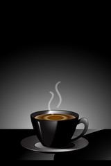 coffee in black cup