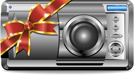Macchina Fotografica Regalo Natale-Photocamera Gift-Vector