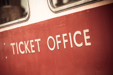 vintage style ticket office sign