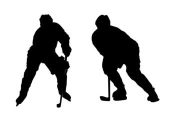 Illustration of playing ice hockey