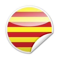 Pegatina bandera Cataluña con reborde