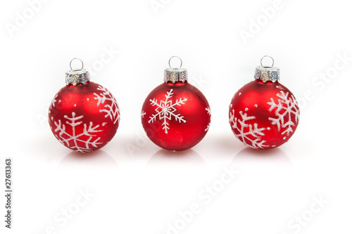 Weihnachtskugel Christbaumschmuck Rot Stock Photo And Royalty Free