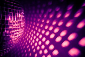 Wall Mural - purple disco backdrop