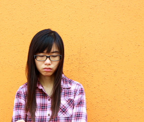 A Chinese girl who is very sad
