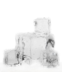 melting ice cubes desaturated
