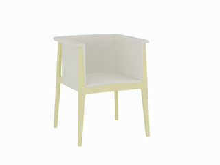 Modern white armchair isolated on white