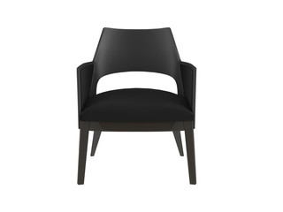 Black office armchair isolated on the white