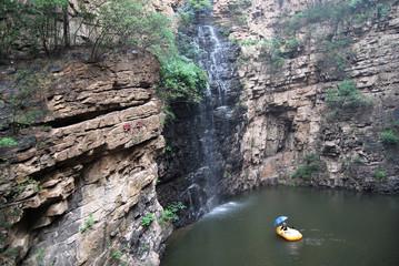 北京京东大峡谷瀑布