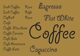 Garden Poster Retro sign Coffee languages_1