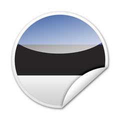 Pegatina bandera Estonia con reborde