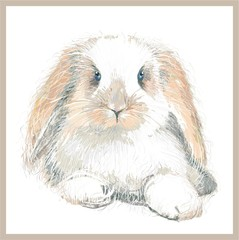 Fantasy portrait of a rabbit.