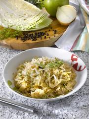 cabbage with spices - chou aux épices