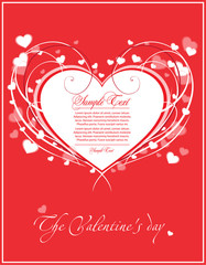 valentin s day card with heart
