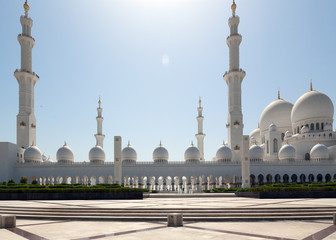 Mosque minarets against the clear sky