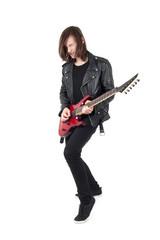 Punk playing guitar