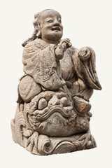 Chinese ancient angel stone statue