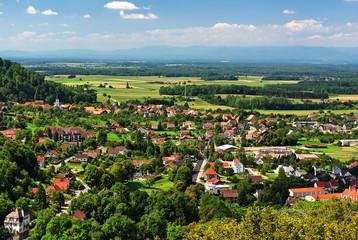 Plaine d'Alsace à Ferrette.