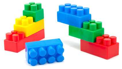 stack of colorful building blocks - no trademarks