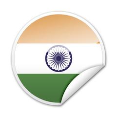 Pegatina bandera India con reborde