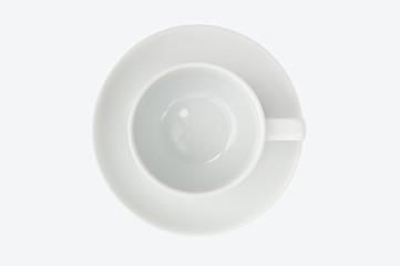 empty coffee cup top view