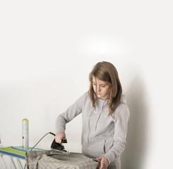 Hausarbeit bügeln