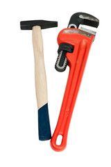Monkey wrench and hammer